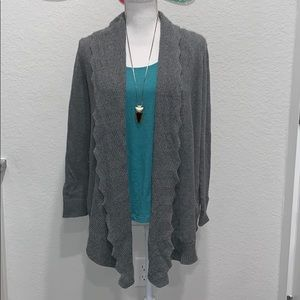 Trendy gray Banana Republic Cardigan